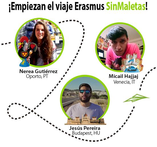 Nerea, Micaíl y Jesús: Embajadores Erasmus SinMaletas 2015